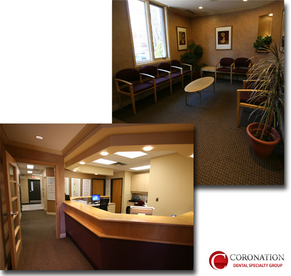 Woodstock Ontario, Coronation Dental Specialty Group, Front Desk and Reception Area